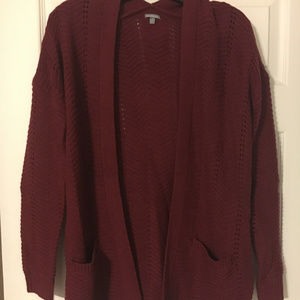 Maroon Charlotte Russe Cardigan Size Small